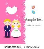 wedding invitation . romantic... | Shutterstock .eps vector #140490019