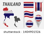 thailand. collection of symbols ... | Shutterstock .eps vector #1404901526