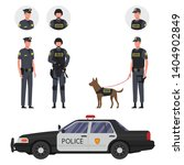 policemen with a dog  police... | Shutterstock .eps vector #1404902849