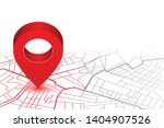 red pin showing location on gps ... | Shutterstock .eps vector #1404907526