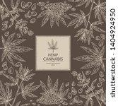 background with hemp  cannabis...   Shutterstock .eps vector #1404924950