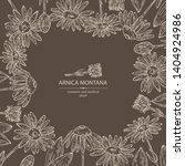 background with arnica montana  ... | Shutterstock .eps vector #1404924986