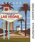 lasvegas modern vector poster.... | Shutterstock .eps vector #1404934580