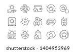 loyalty program line icons.... | Shutterstock .eps vector #1404953969