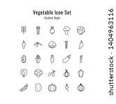 vegetable icon set. vegetable... | Shutterstock .eps vector #1404963116