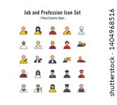 job and profession icons vector.... | Shutterstock .eps vector #1404968516