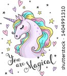 You Are Magical Text. Vector...