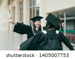 two young student girls dressed ...   Shutterstock . vector #1405007753