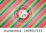 electrocardiogram icon inside... | Shutterstock .eps vector #1405017113