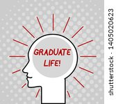 writing note showing graduate...   Shutterstock . vector #1405020623