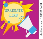 writing note showing graduate...   Shutterstock . vector #1405020653