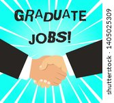 writing note showing graduate...   Shutterstock . vector #1405025309
