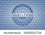 variation blue badge with... | Shutterstock .eps vector #1405031726