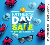 father's day sale promotion... | Shutterstock .eps vector #1405035440