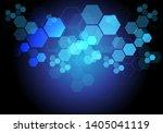 abstract blue hexagon light... | Shutterstock .eps vector #1405041119