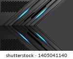 abstract dark metallic arrow... | Shutterstock .eps vector #1405041140
