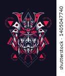 samurai mask helmet sacred... | Shutterstock .eps vector #1405047740