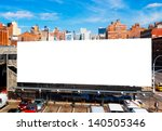 big blank billboard in new york ... | Shutterstock . vector #140505346