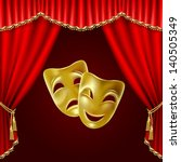 theatrical mask on a red... | Shutterstock .eps vector #140505349