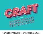 vector of stylized modern craft ... | Shutterstock .eps vector #1405062653