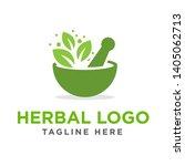 medical   herbal logo vector... | Shutterstock .eps vector #1405062713