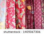 colorful and beautiful batik....   Shutterstock . vector #1405067306
