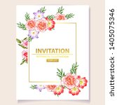 invitation greeting card with... | Shutterstock . vector #1405075346