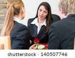 mortician is advising clients... | Shutterstock . vector #140507746