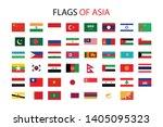 asia nation flag icon vector... | Shutterstock .eps vector #1405095323