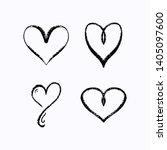 set of hand draw chalk brush... | Shutterstock .eps vector #1405097600