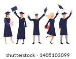 set of happy high school...   Shutterstock .eps vector #1405103099