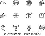 targets line icon set.... | Shutterstock .eps vector #1405104863