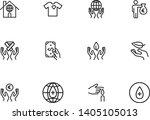 volunteering line icon set.... | Shutterstock .eps vector #1405105013