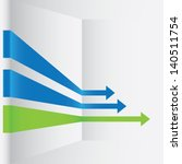 arrows green and blue   Shutterstock .eps vector #140511754