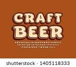 vector stylish sign craft beer... | Shutterstock .eps vector #1405118333