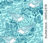 vector seamless floral pattern | Shutterstock .eps vector #140512378