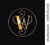 modern elegant initial logo of... | Shutterstock .eps vector #1405151210