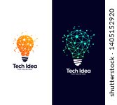 tech lightbulb logo designs... | Shutterstock .eps vector #1405152920