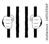 hands hold the lattice vector... | Shutterstock .eps vector #1405155569