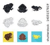 vector design of wildlife and... | Shutterstock .eps vector #1405157819