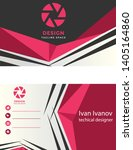 abstract business card crimson... | Shutterstock .eps vector #1405164860
