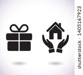 house  vector icon    lorem... | Shutterstock .eps vector #1405167923