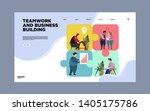business concept. team metaphor.... | Shutterstock .eps vector #1405175786