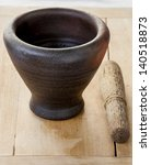 traditional pestle and mortar | Shutterstock . vector #140518873