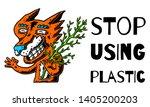 fox. cartoon fox with copyspace.... | Shutterstock .eps vector #1405200203