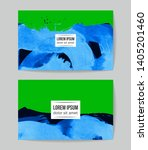 set of vector business card... | Shutterstock .eps vector #1405201460
