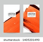 set of vector business card... | Shutterstock .eps vector #1405201490