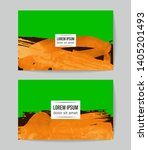 set of vector business card... | Shutterstock .eps vector #1405201493