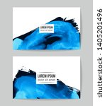 set of vector business card... | Shutterstock .eps vector #1405201496
