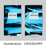 set of vector business card... | Shutterstock .eps vector #1405201499